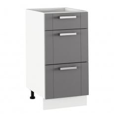 Spodní skříňka, tmavě šedá/bílá, JULIA TYP 53