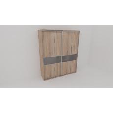 Skříň FLEXI 2 š.200cm v.220cm : 2x dveře dělené sklem MATELUX