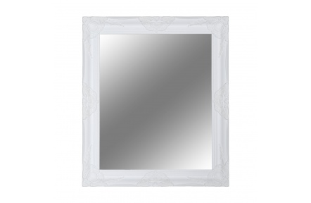 Zrcadlo, bílý dřevěný rám, MALKIA TYP 13