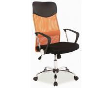 Kancelářská židle Q025 černo-oranžová PREZIDENT II