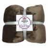 Oboustranná deka, hnědá, 200x220, ANKEA TYP 1