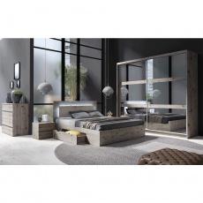 Ložnicová sestava (skříň / postel / 2ks noční stolek), dub Welington, TOGOS