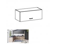 Horní skříňka, dub artisan/šedý mat, LANGEN G80K