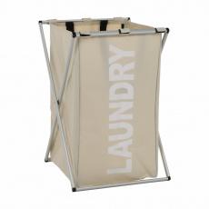 Látkový koš na prádlo, šedobéžová, LAUNDRY NEW TYP 1
