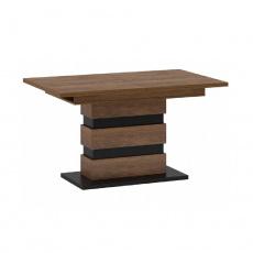 Rozkládací jídelní stůl, dub bolzano / černá, DELIS S
