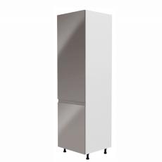 Potravinová skříňka, bílá / šedá extra vysoký lesk, levá, AURORA D60R
