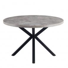 Jedálenský stůl, betón / čierna, MEDOR