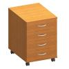 čtyřzásuvková kontejner, DTD laminovaná, ABS hrany, třešeň, TEMPO ASISTENT NEW 015