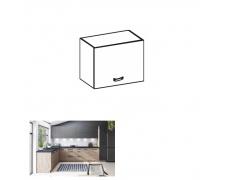 Horní skříňka, dub artisan/šedý mat, LANGEN N40