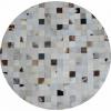 Luxusní koberec, pravá kůže, 150x150, KŮŽE TYP 10