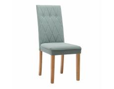 Jídelní židle, mentolová, látka / dřevo, MERIKA