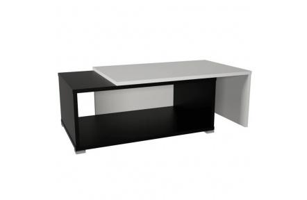 Konferenční rozkládací stolek, černá / bílá, DRON