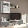 Obývací stěna, bílá / šedá, GENTA