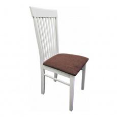 Židle, bílá / hnědá látka, ASTRO NEW