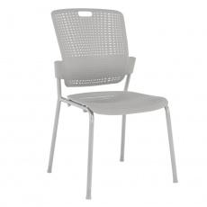 Stohovatelná židle, šedá, NERGIS