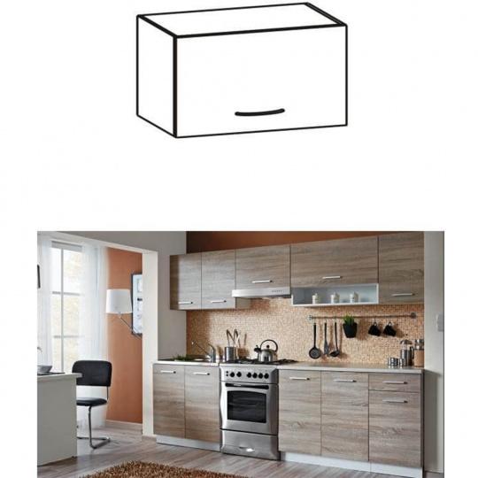 Skříňka do kuchyně, horní, dub sonoma / bílá, CYRA NEW G0-50