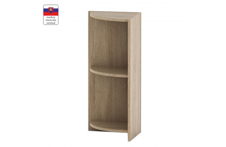 Rohová okrajová skříňka, dub sonoma, TEMPO ASISTENT NEW 014