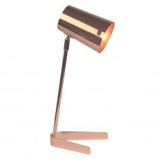 Stolní lampa, kov / rose gold, FABEL