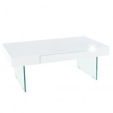 Konferenční stolek, bílý extra vysoký lesk, DAISY 2 NEW