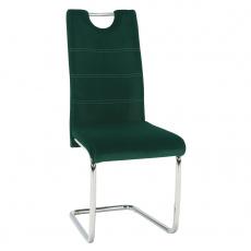 Jídelní židle, smaragdová Velvet látka, ABIRA NEW
