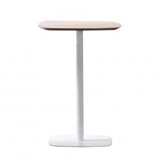 Barový stůl, dub / bílá, MDF / kov, HARLOV
