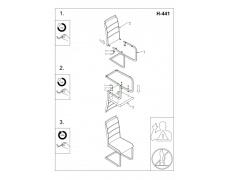 Jídelní židle H441 bíločerná