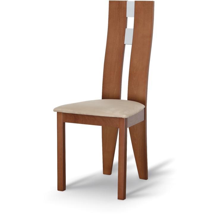 Dřevěná židle, třešeň/látka béžová, BONA
