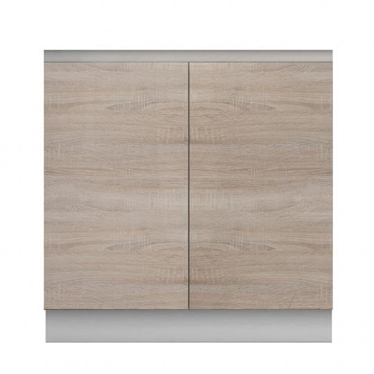 Dolní skříňka D 80 ZL, dub sonoma/bílá, LINE