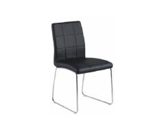 Židle, černá textilní kůže / chrom, SIDA