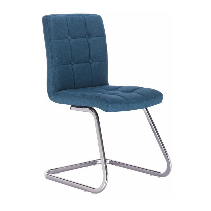 Designová stolička, tyrkysová látka, LAVINIA