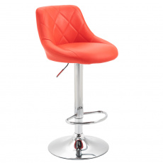 Barová židle, červená / chromová, MARID