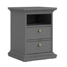 Noční stolek, šedá, PARIS 70302