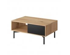 Konferenční stolek FL 102, dub artisan/černá, FORSO