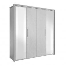 Skříň se zrcadlem, ABS hrany, šedý beton, ALDEN