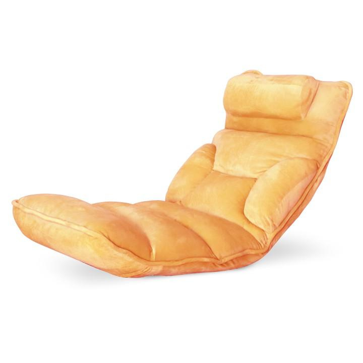 Relaxační křeslo, látka oranžová, LOTA
