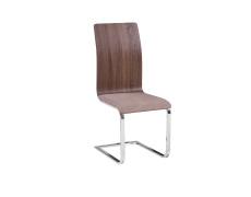 Jídelní židle, béžová látka / MDF hnědá, ODETA