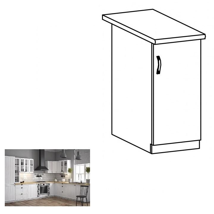 Spodní skříňka D30, pravá, bílá / sosna andersen, PROVANCE