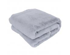 Kožešinová deka, světle šedá, 150x180, Rabita NEW TYP 9