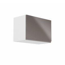 Horní skříňka, bílá / šedý extra vysoký lesk, AURORA G50K