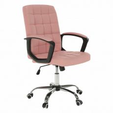 Kancelářské křeslo, růžová ekokůže, RULIS