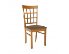 Židle, třešeň /béžovohnedá, GRID NEW