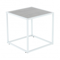 Příruční stolek, dub/bílá, JAKIM TYP 2 NEW