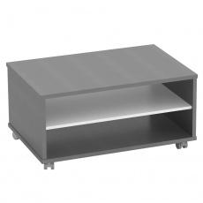 Konferenční stolek, grafit / bílá, RIOMA NEW TYP 32