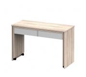 Rozkládací PC stůl se šuplíky, dub sonoma / bílá, Versal NEW