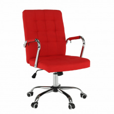 Kancelářské křeslo, červená, MORGEN