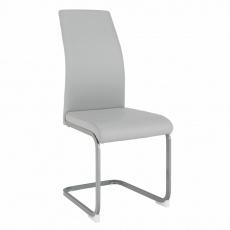 Jídelní židle, světlešedá/šedá, NOBATA