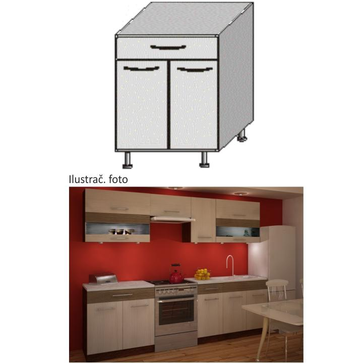 Kuchyňská skříňka, rigoleto light/dark, JURA NEW IA D-80 S1