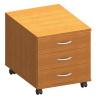 třízásuvkový kontejner, DTD laminovaná, ABS hrany, třešeň, TEMPO ASISTENT NEW 016