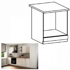Skříňka na vestavné spotřebiče D60ZK, bíla/sosna Andersen, SICILIA