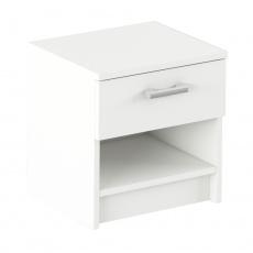 Noční stolek, bílá, ALEXIA